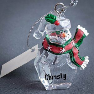 Christy Christmas Ornament Personalized Name